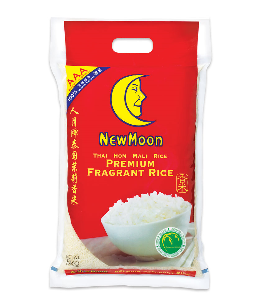 New Moon Premium Fragrant Thai Hom Mali Rice 5kg