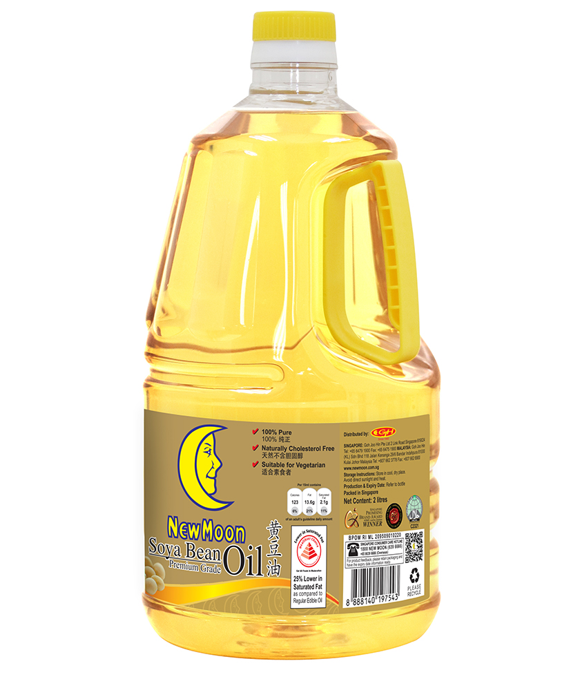 New Moon Premium Grade Soya Bean Oil 2L