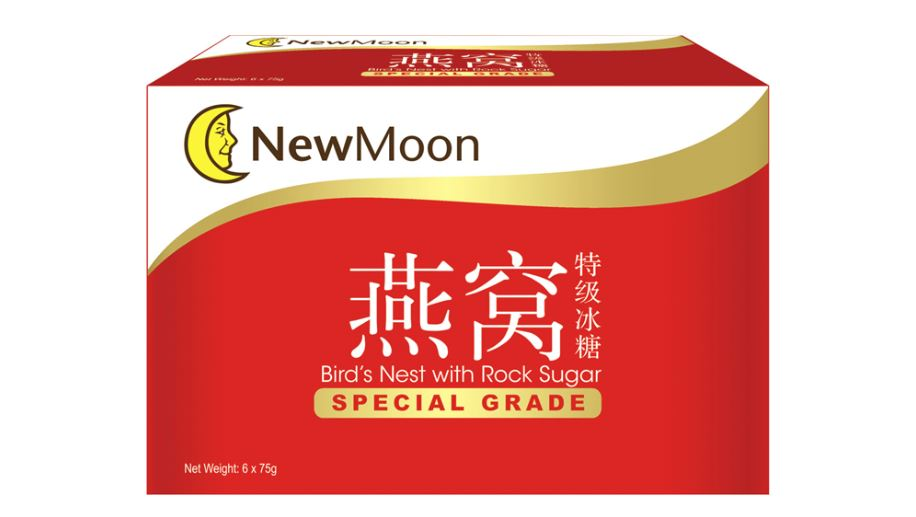 New Moon Special Grade Birds Nest with Rock Sugar 2 Boxes x 6