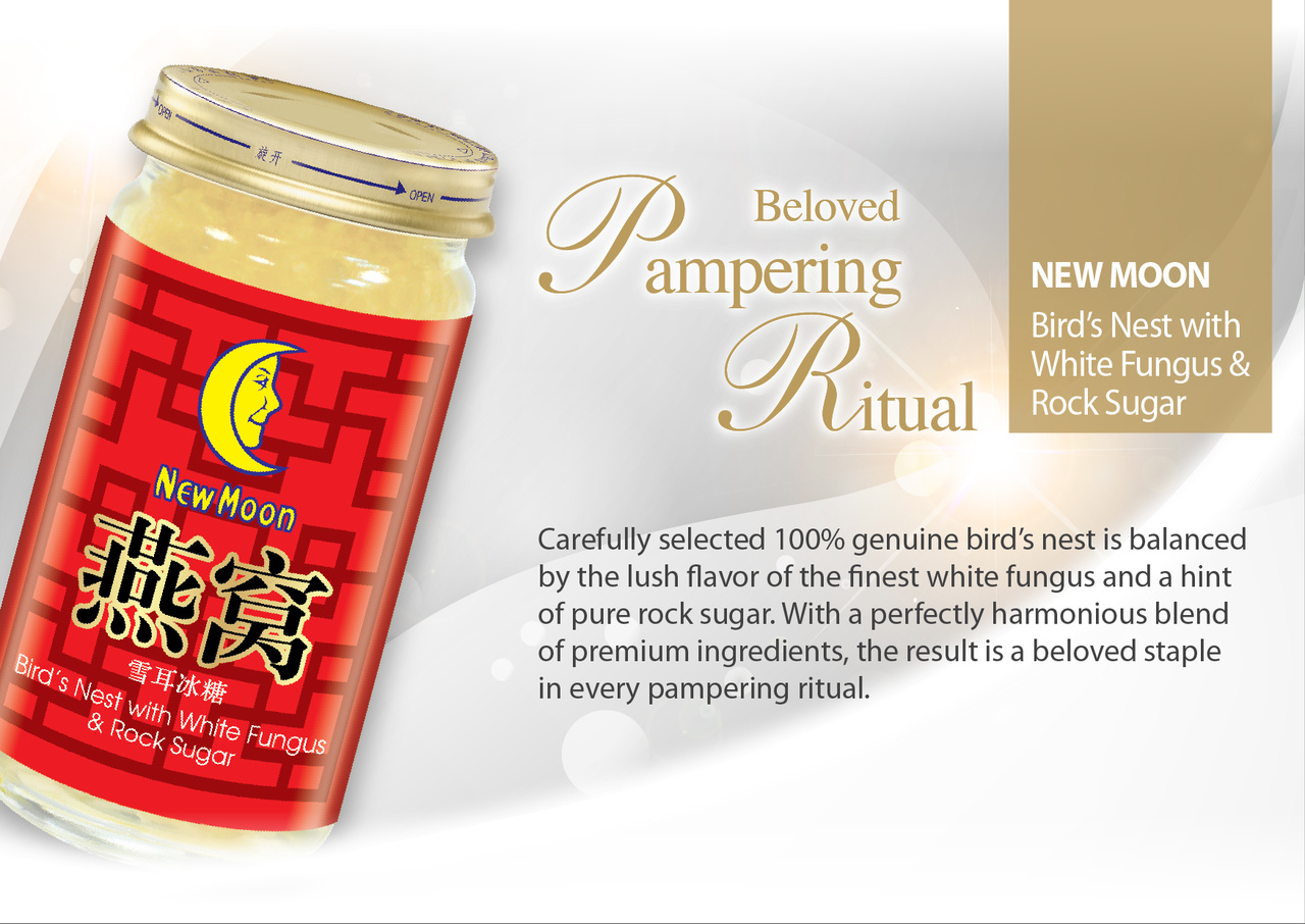 New Moon Bird's Nest with White Fungus & Rock Sugar
